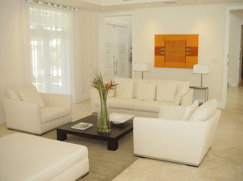 all-white-living-room