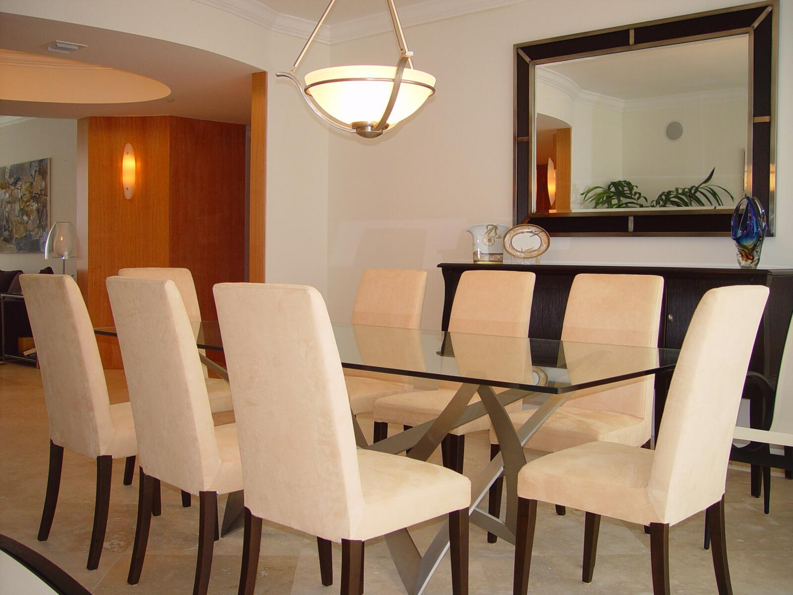 Miami dining room interior design services for Interior design services