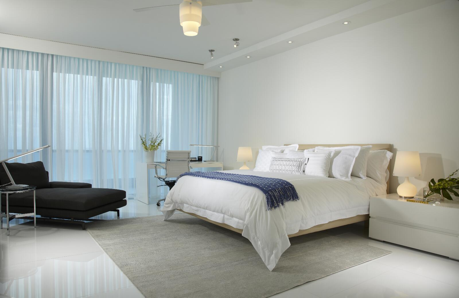 An Interior Design Agency In Miami Provides Expertise In The Bedroom And Bathroom